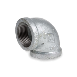 Smith-Cooper® 34E 1014C 90 deg Pipe Elbow, 1-1/2 in, NPT, 150 lb, Malleable Iron, Galvanized