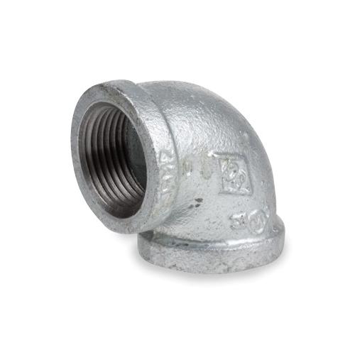 Smith-Cooper® 34E 1004C 90 deg Pipe Elbow, 1/2 in, NPT, 150 lb, Malleable Iron, Galvanized