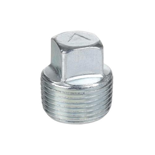 Smith-Cooper® 24SP4004 Square Head Plug, 1/2 in, Thread, Merchant Steel, Galvanized