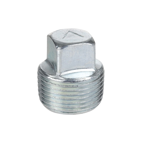 Smith-Cooper® 24SP4004 Square Head Plug, 1/2 in, Thread, Merchant Steel, Galvanized
