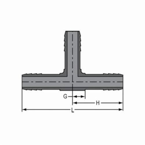 Spears® 1401-005 Standard Pipe Tee, 1/2 in, Insert, PVC, Domestic