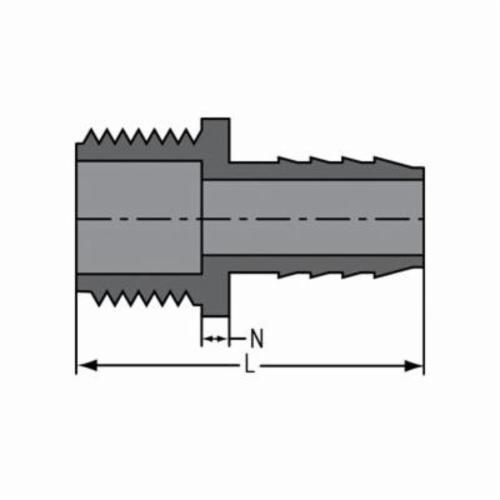 Spears® 1436-005 Standard Pipe Adapter, 1/2 in, Insert x MNPT, PVC, Domestic