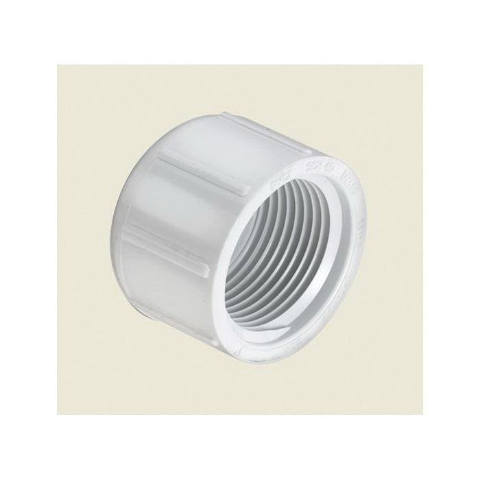 Spears® 448-010 Pipe Cap, 1 in, FNPT, SCH 40/STD, PVC, Domestic