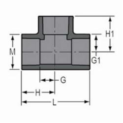 Spears® 801-015 Standard Pipe Tee, 1-1/2 in, Socket, SCH 80/XH, PVC, Domestic