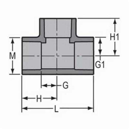 Spears® 801-025C Standard Pipe Tee, 2-1/2 in, Socket, SCH 80/XH, CPVC, Domestic