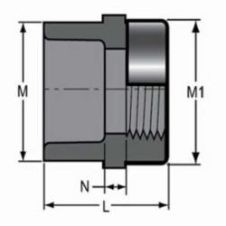 Spears® 835-020SR Standard Pipe Adapter, 2 in, Socket x Special Reinforced FNPT, SCH 80/XH, PVC, Domestic