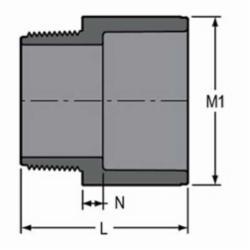 Spears® 836-030 Standard Pipe Adapter, 3 in, MNPT x Socket, SCH 80/XH, PVC, Domestic
