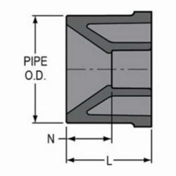 Spears® 837-251 Pipe Bushing, 2 x 1-1/2 in, Spigot x Socket, SCH 80/XH, PVC, Domestic