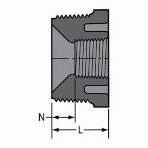 Spears® 839-072 Pipe Bushing, 1/2 x 1/4 in, MNPT x FNPT, SCH 80/XH, PVC, Domestic