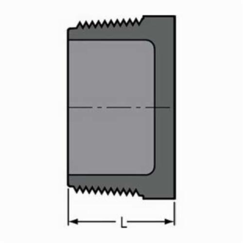 Spears® 850-015 Pipe Plug, 1-1/2 in, MNPT, SCH 80/XH, PVC, Domestic