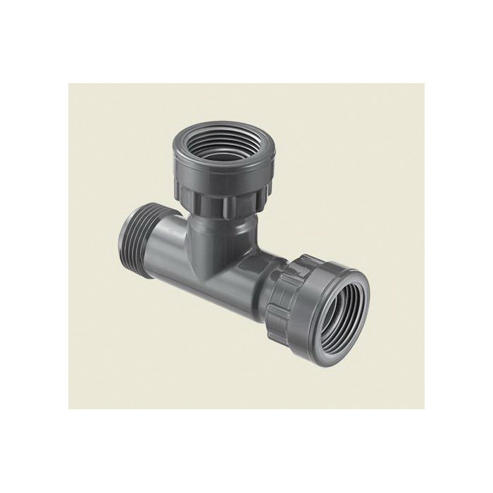 Spears® MA0101-010 Pipe Tee, 1 in, Swivel x MNPT x Swivel, PVC, Domestic