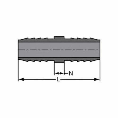 Spears® 1429-015 Standard Pipe Coupling, 1-1/2 in, Insert, PVC, Domestic