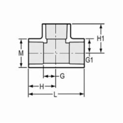 Spears® 401-012 Standard Pipe Tee, 1-1/4 in, Socket, SCH 40/STD, PVC, Domestic