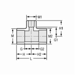 Spears® 401-168 Reducing Pipe Tee, 1-1/4 x 1-1/4 x 1 in, Socket, SCH 40/STD, PVC, Domestic
