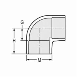 Spears® 406-015 Standard 90 deg Pipe Elbow, 1-1/2 in, Socket, SCH 40/STD, PVC, Domestic