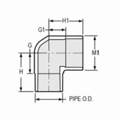 Spears® 409-007 Standard 90 deg Street Elbow, 3/4 in, Spigot x Socket, SCH 40/STD, PVC, Domestic