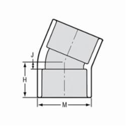 Spears® 416-020 Standard 22.5 deg Pipe Elbow, 2 in, Socket, SCH 40/STD, PVC, Domestic