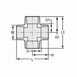 Spears® 420-015 Standard Pipe Cross, 1-1/2 in, Socket, SCH 40/STD, PVC, Domestic
