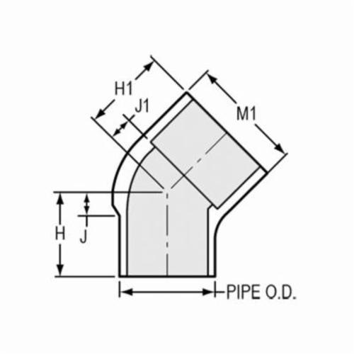 Spears® 427-020 Standard 45 deg Street Elbow, 2 in, Spigot x Socket, SCH 40/STD, PVC, Domestic