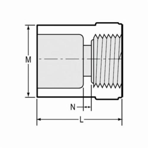 Spears® 435-005 Standard Pipe Adapter, 1/2 in, Socket x FNPT, SCH 40/STD, PVC, Domestic