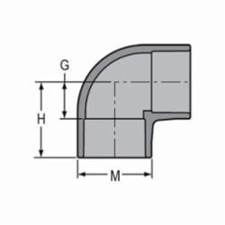 Spears® 806-025C Standard 90 deg Pipe Elbow, 2-1/2 in, Socket, SCH 80/XH, CPVC, Domestic