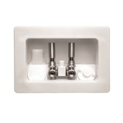 Speciality Products™ Kahuna™ OB-2161-C Assembled Outlet Box With Condensate Hammer Arrester Valves, For Use With Speciality Products™ Washing Machine, Plastic, White