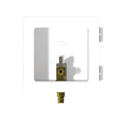 Speciality Products™ OB-801-LL Ice Maker Box With Copper Sweat Valves, 1/2 in C x 1/4 in Compression, Plastic, White