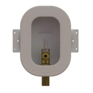 Speciality Products™ OB-8030-LL Mini Ice Maker Box With Crimp PEX Valves, 1/2 in PEX x 1/4 in Compression, Plastic, White