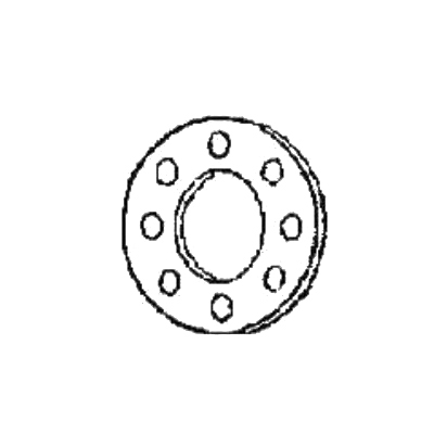 Specified Fittings BR8DR11 Backing Ring, 8 in, Flange, Ductile Iron, 150 lb, 13-1/2 in OD