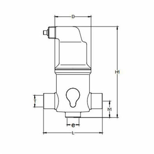SPIROTHERM® Spirovent® Microbubble™ VJS100TM Junior VJS Air Eliminator, 1 in, C, 150 psig Working, 270 deg F, Brass, Domestic
