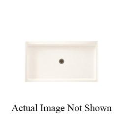 Swan® FF03460MD.010 R-3460 Single Threshold Shower Floor, 60 in W x 34 in D, Center Drain, 3 in Dia Drain Hole, Domestic