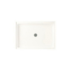 Swan® FF03448MD.010 Single Threshold Shower Floor With Fit-Flo™ Drain, 48 in W x 34 in D, Center Drain, 3 in Dia Drain Hole, Domestic