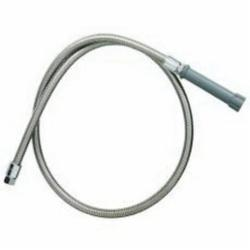 T & S B-0060-H Flexible Hose With Gray Handle, 3/4-14 UN Female Inlet/Outlet, 60 in Stainless Steel Spray Hose