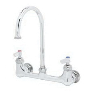 T & S B-0331 Double Pantry Manual Faucet, 23.09 gpm, 8 in Center, Polished Chrome