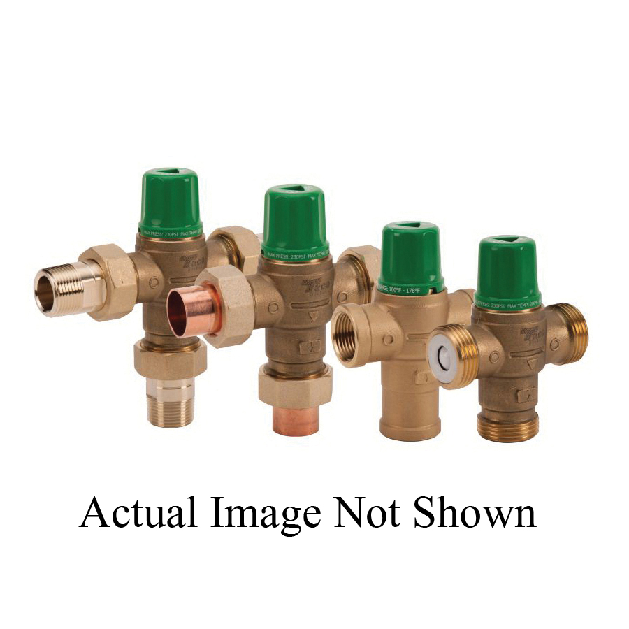 Taco® 5002-C3 5000 3-Way Mixing Valve, 1/2 in, Union C, 230 psi, 20 gpm, Forged Brass Body, Domestic