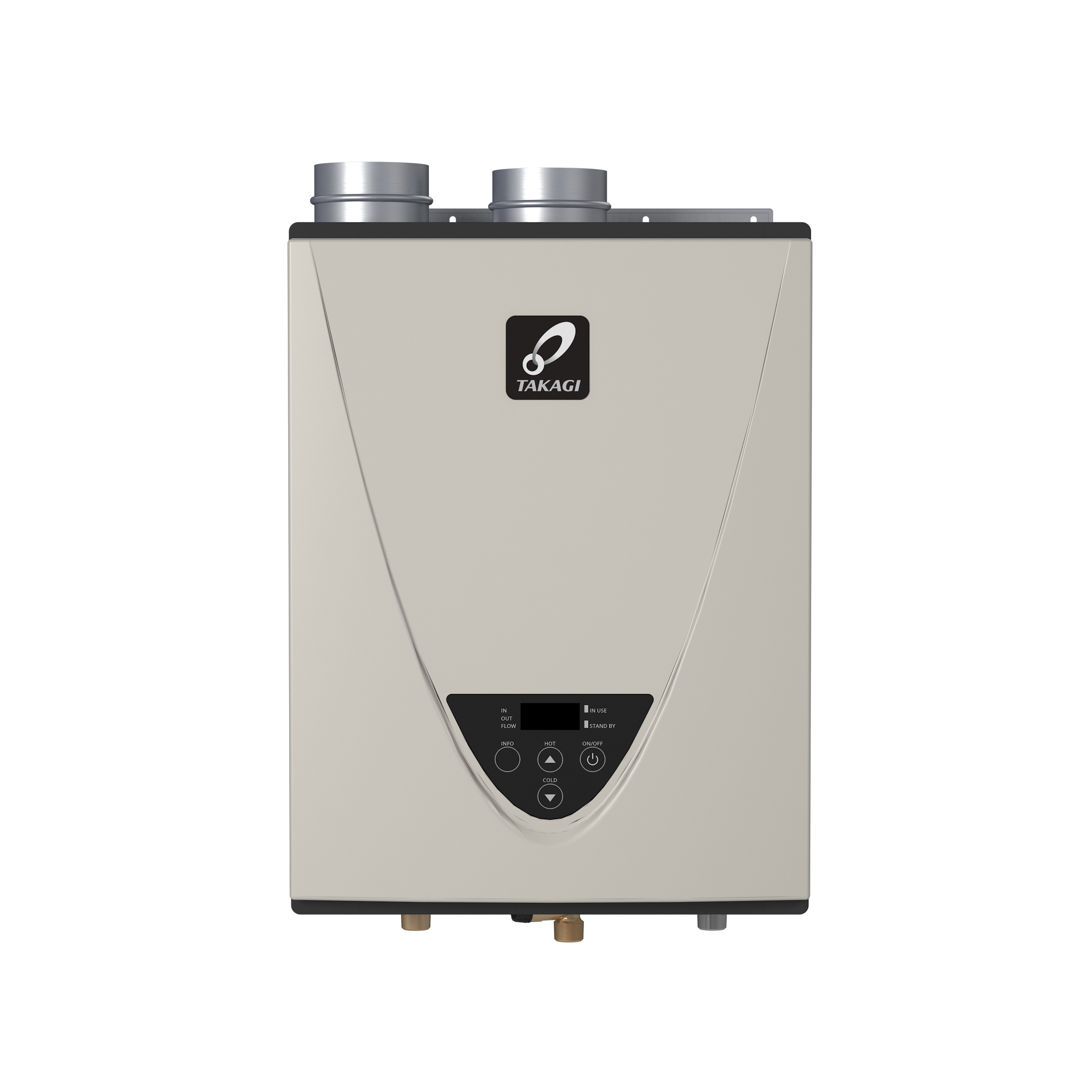Takagi TH3JDVNG H3J Tankless Water Heater, Natural Gas Fuel, 160000 Btu/hr Heating, Indoor/Outdoor: Indoor, Condensing/Non Condensing: Condensing, 6.6 gpm, 4 in Direct Vent, 0.94, Commercial/Residential/Dual: Dual, Ultra Low NOx: Yes