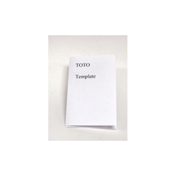 Toto® 0GU105 Template, For Use With Pacifica™ LT909 Self-Rimming Lavatory