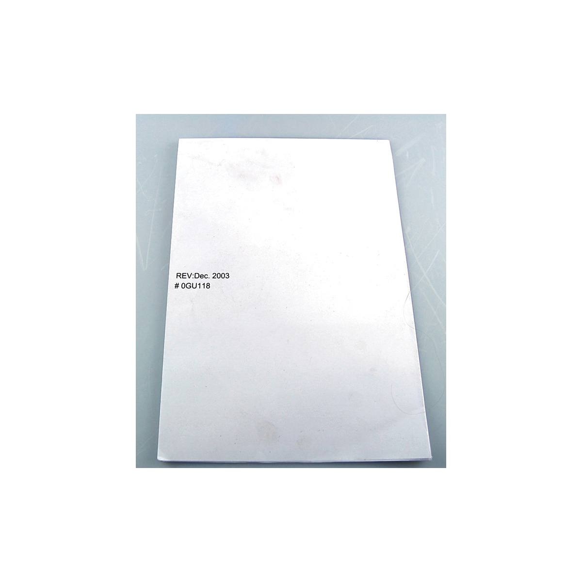 Toto® 0GU118 Template, For Use With Rendezvous® LT569, LT579G, LT579 Under Counter Lavatory
