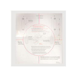 Toto® 0GU124-1 Installation Template, For Use With Aquia® CST414M 1.6 and 0.9 gpf Elongated Toilet