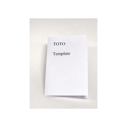 Toto® 0GU125 Mounting Template, For Use With LT546 (G) Under Counter Lavatory