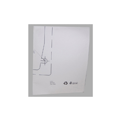 Toto® 0GU144 Template, For Use With Renesse™ Kiwami™ Design Vessel Lavatory