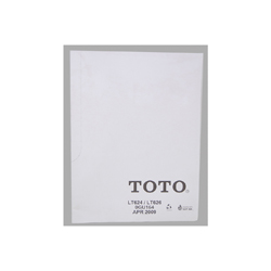 Toto® 0GU164 Mounting Template, For Use With Aimes® LT624, LT626 Under Counter Lavatory