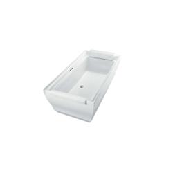 Toto® ABF626N#01DBN Aimes® Bathtub, Rectangular, 71-1/2 in L x 36-3/16 in W, Center Drain, Cotton
