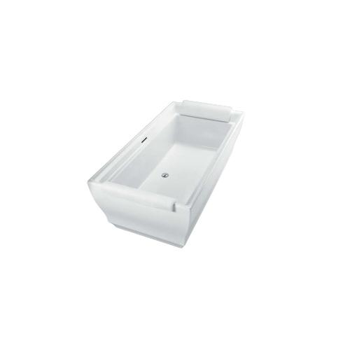 Toto® ABF626N#01DPN Aimes® Bathtub, Rectangular, 71-1/2 in L x 36-3/16 in W, Center Drain, Cotton
