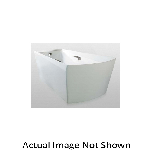 Toto® ABF964N#01DCP Soiree® Bathtub Without Jet, Soaking Hydrotherapy, Rectangular, 72-3/8 in L x 39-1/2 in W, Right Drain, Cotton