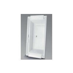 Toto® ABR626S#01DCP Aimes® Right Blower Bathtub, Air Bath, Rectangular, 71-1/2 in L x 36-3/16 in W, Center Drain, Cotton
