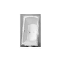 Toto® ABR781T#01YPN Clayton™ Left Blower Bathtub With Polished Nickel Grab Bar, Air Bath, Rectangular, 60 in L x 32 in W, Center Drain, Cotton