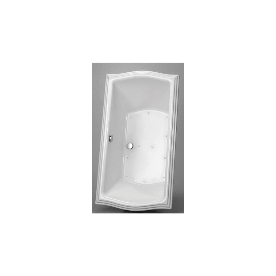 Toto® ABR781S#01YPN Clayton™ Right Blower Bathtub With Polished Nickel Grab Bar, Air Bath, Rectangular, 60 in L x 32 in W, Center Drain, Cotton