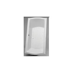 Toto® ABR784S#12YCP Clayton™ Right Blower Bathtub With Polished Chrome Grab Bar, Air Bath, Rectangular, 71-5/8 in L x 35-7/8 in W, Center Drain, Sedona Beige