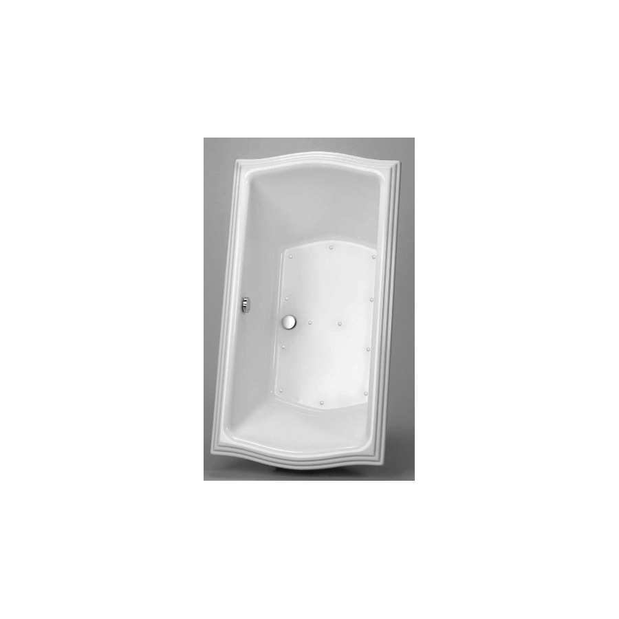 Toto® ABR785T#01YCP Clayton™ Left Blower Bathtub With Polished Chrome Grab Bar, Air Bath, Rectangular, 66 in L x 34 in W, Center Drain, Cotton